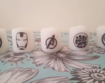avengers marvel candle set.