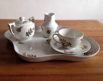 Antique french small service breakfast - porcelain - 1920