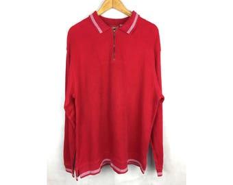 LL BEAN Long Sleeve Sweatshirt Large Size Sweatshirt with Neck Zipper