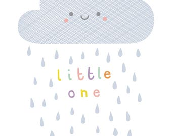 Raincloud A4 children's print