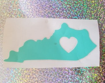 Kentucky outline with heart