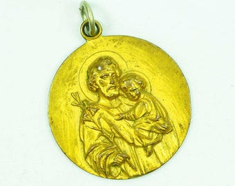 Antique Saint Christopher Medallion