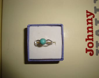 semi precious stone silver ring