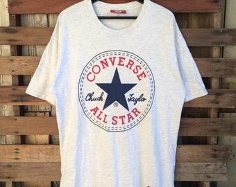 Vtg 90s converse by chuck taylor biglogo shirt!!