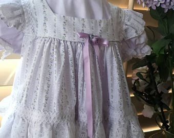Vintage Baby Lace Pinafore and Matching Dress