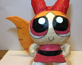 Handcrafted Blossom The Powerpuff Girls 8 x 7 x 4 inches