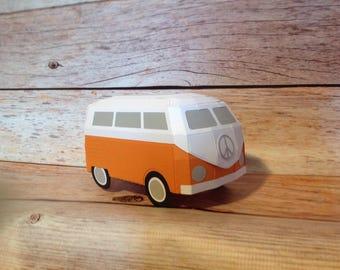 Volkwagon bus paper gift box