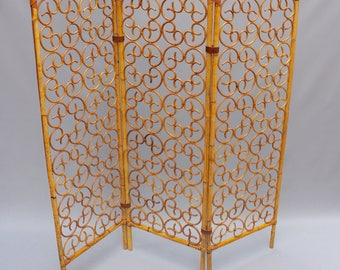 French Rattan Room Divider 1960s