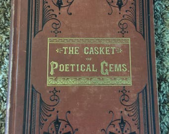 "1880's ""the casket of poetical gems"" book"