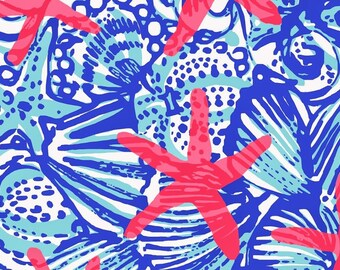 Lilly Pulitzer/coral/printed vinyl/HTV/vinyl/651/oracal/adhesive/blanks/small business/heat transfer/