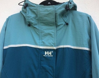 MEGA SALE Vintage Helly Hansen Techgear Trekking Jacket Helly Hansen Hooded Heavy Jacket. Mountain Jacket Size Large Outerwear Sportwear