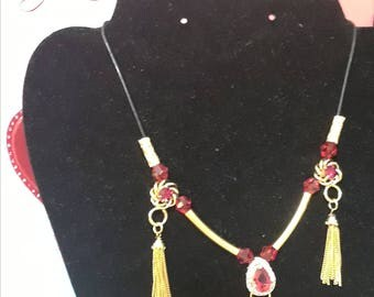 Ruby Red & Gold