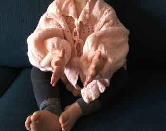 Vintage Hand Knit Pink Toddler Sweater