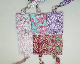 Lilly Inspired Lanyards ID Badge Holders
