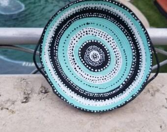 Polka Dot Rope Bowl