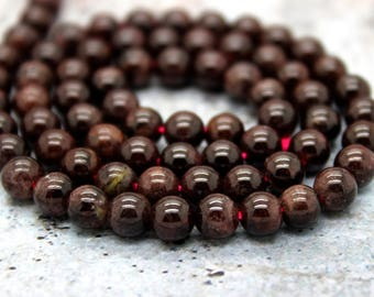 Garnet Round Gemstone Beads Natural Stone (3mm 4mm 5mm 6mm 7mm 8mm 10mm)
