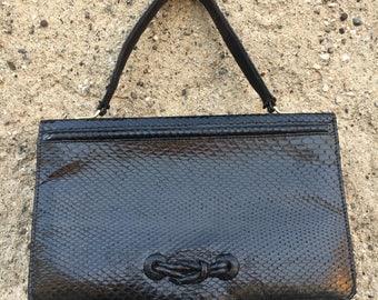 Black Python bag 50
