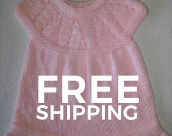 Knit baby dress 6 months