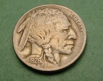 1926 Buffalo Nickel Very Fine  FREE SH In United States # ET847