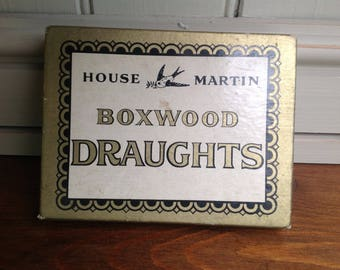 Vintage house Martin boxwood draughts 1950s