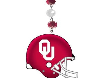 OU University of Oklahoma *Helmet* Magnetic Ornament,Ou Decor, Sooners Ornament, Sooners Football, Ou Sooners, Boomer Sooners