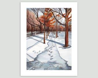 A Walk in Trinity Bellwoods Park, Toronto – Fine Art Print of Original Watercolour Painting