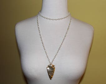 Double Layer Arrowhead Necklace