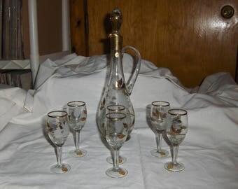 Romanian crystal decanter set