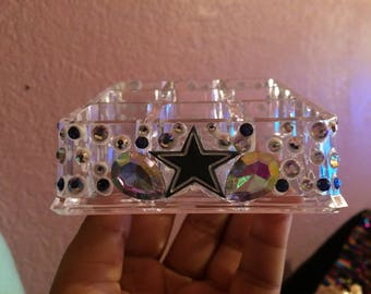 Dallas Cowboys lipstick holder