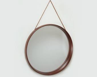 VINTAGE  - Luxus Teak mirror by Swedish Uno and Osten Kristiansson - 1960s