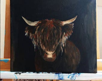 Highlander on canvas