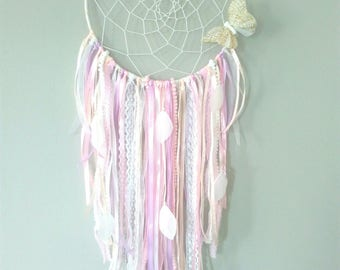 "Dream catcher/dreamcatcher ""Pom"" Butterfly ""and its weave"