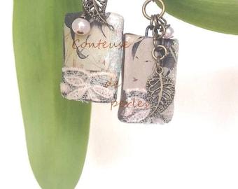 pair of earrings, earring, women