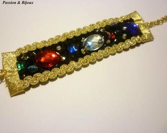 Braid bracelet and rhinestone applications