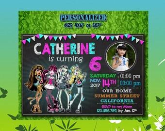 Monster High Invitation / Monster High Birthday / Monster High Party / Monster High Invite / Monster High Birthday Invitation / Monster High
