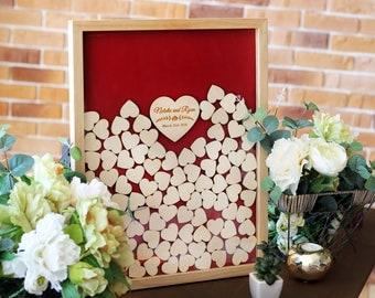 Wedding Guest Book Wood Wedding Guestbook Alternative Rustic Wedding Guest Book Drop Top Box Guest Book ideas Wedding Guestbook Book Heart