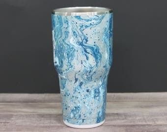 Swirl dipped tumbler / Hydro dipped tumbler / Dallas cowboys yeti swirl tumbler / Dallas Cowboys Ozark swirl tumbler / One of a kind tumbler