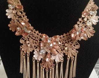 Statement Neckalce  Bib Necklace Weddings BRIDESMAIDS necklace Christmas Jewellery ,Gift For Her