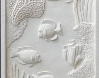 Sculpture wall exotic fish