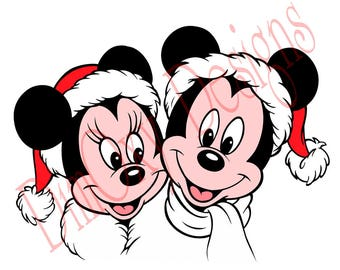 Disney Mickey and Minnie. Christmas and Holiday window Static Cling decor. OSD-SCFC-MAMC1