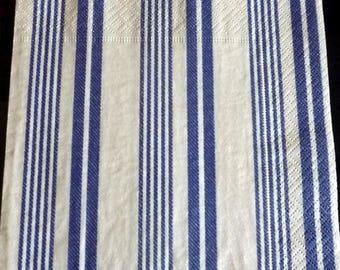 Blue stripes and beige style napkin mattress