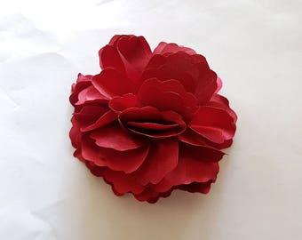 2 Wine Dark Red Rose Flower Baby Girl Hair Clips Brooches 1 Pair