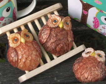 Owl Soap, Cold Process, Hand Painted