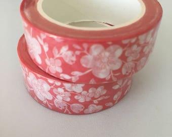 Cherry Blossom Washi Tape, Pink Washi Tape, Cherry Blossom Tape, Cherry Blossom Washi, Floral Washi Tape, Japanese Washi Tape