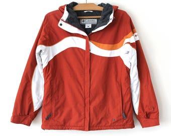 90's Columbia Jacket, Vintage Columbia Vertex Jacket, Brick Winter Coat, Columbia Windbreaker, Mountain Hiking Extreme Jacket Size L