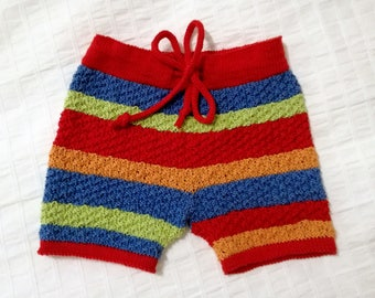 Handmade baby short, handmade baby boy shorts, knitted baby clothes