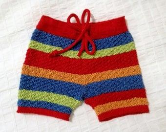 Handmade baby short, handmade baby boy shorts, knitted baby clothes