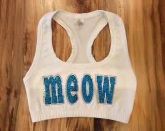 Meow Sports Bra- Adult S