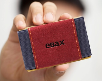 Minimalist Slim Wallet With Elastic Front Pocket Card Holders And Cash for men & women