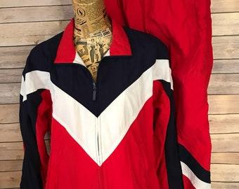 Vintage Liz Sport Petite Colorblock Track Suit